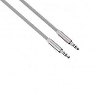Cablu conexiune Jack Jack 35mm pentru smartphone HAMA 80530 Color Line 1m Silver