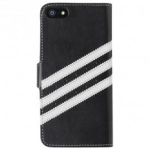 Husa Flip Cover pentru iPhone 5 5S ADIDAS Booklet Case 15684 Black