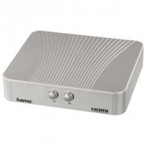 Adaptor HDMI HAMA 42543 2 X intrari HDMI 1 X iesire HDMI argintiu