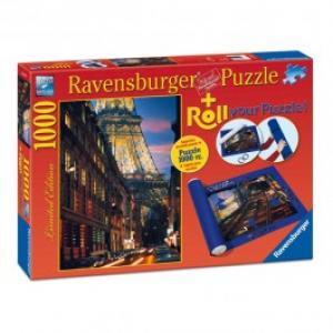 Puzzle RAVENSBURGER Paris 1000 piese si suport pentru rulat