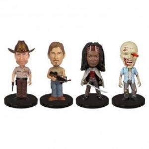 Set Figurine The Walking Dead 4 Mini Wacky Wobbler Rick Daryl Michonne Walker