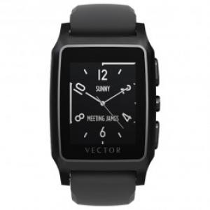 Smartwatch VECTOR Meridian Flat Black with Black Silicone Strap