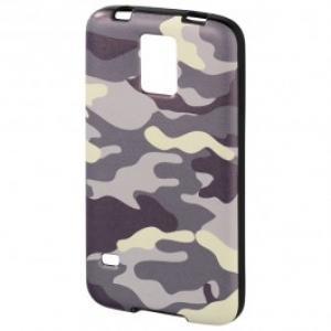 Carcasa de protectie pentru Samsung Galaxy S5 Mini HAMA Camouflage 122845 GreyBlack
