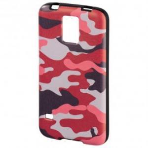 Carcasa de protectie pentru Samsung Galaxy S5 HAMA Camouflage 122840 PinkBlack