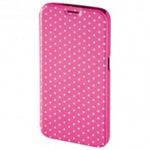 Husa Flip Cover pentru Samsung S6 HAMA Luminous Dots Booklet 138230 PinkWhite