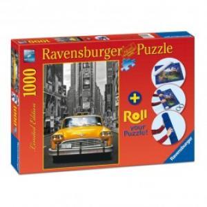 Puzzle RAVENSBURGER New York Taxi 1000 piese si suport pentru rulat