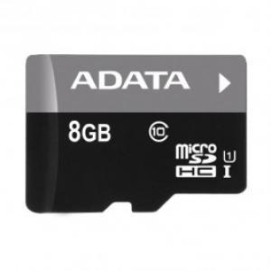 Card de memorie microSDHC 8GB ADATA Clasa 10 UHS I