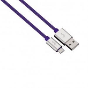 Cablu de incarcare sincronizare microUSB universal HAMA 80513 Color Line Blue