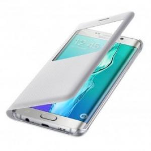 Husa S View Cover pentru Samsung Galaxy Edge SAMSUNG EF CG928PWEGWW White