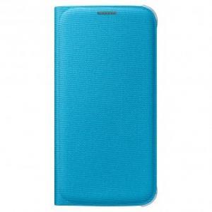Husa Flip Cover tip portofel pentru Samsung Galaxy S6 SAMSUNG EF WG920BLEGWW Blue
