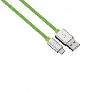 Cablu de incarcare sincronizare microUSB universal HAMA 80514 Color Line Green