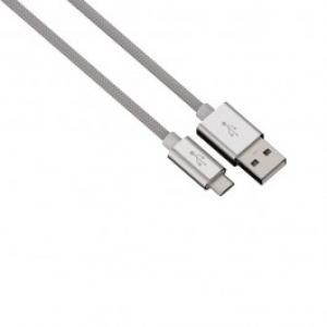 Cablu de incarcare sincronizare microUSB universal HAMA 80511 Color Line Silver