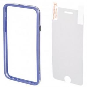 Bumper Folie de protectie pentru iPhone 6 Plus HAMA Edge 135053 Blue