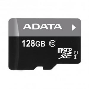 Card de memorie microSDXC 128GB ADATA Clasa 10 UHS I adaptor SD