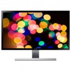 Monitor LED SAMSUNG U28D590D 28 Ultra HD argintiu negru