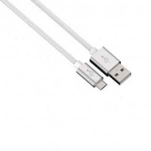 Cablu de incarcare sincronizare microUSB universal HAMA 80515 Color Line White