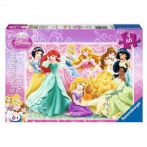 Puzzle RAVENSBURGER Printesele Disney 80 piese